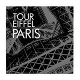 Tour Eiffel Paris Tile Coaster (gray)