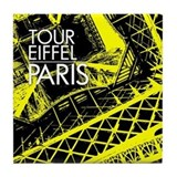 Tour Eiffel Paris Tile Coaster (yellow)