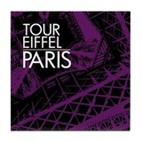 Tour Eiffel Paris Tile Coaster (purple)