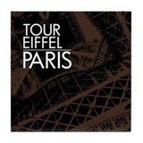 Tour Eiffel Paris Tile Coaster (brown)