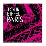 Tour Eiffel Paris Tile Coaster (pink)