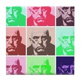 Aleister Crowley in Color Tile Coaster