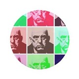 "Aleister Crowley in Color 3.5"" Button (100 pack)"
