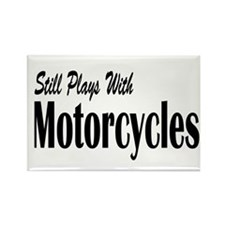 Plays With Motorcycles Rectangle Magnet