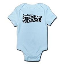 Proud to be Jewish and Chinese Infant Bodysuit