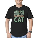 Sumxu Cat Men's Fitted T-Shirt (dark)