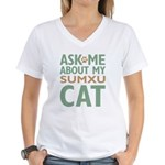 Sumxu Cat Women's V-Neck T-Shirt