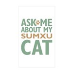 Sumxu Cat Sticker (Rectangle 10 pk)