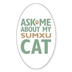 Sumxu Cat Sticker (Oval 10 pk)
