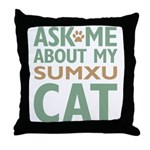 Sumxu Cat Throw Pillow