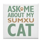 Sumxu Cat Tile Coaster