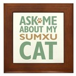 Sumxu Cat Framed Tile