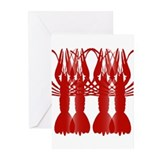 Crawfish Tile Wall Mural Greeting Cards (Pk of 20)
