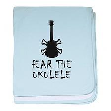 popular ukulele baby blanket