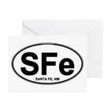 (SFe) Euro Oval Greeting Cards (Pk of 10)