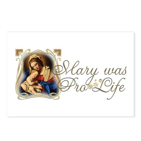 """Mary was Pro-Life"" Postcards (Package of 8)"