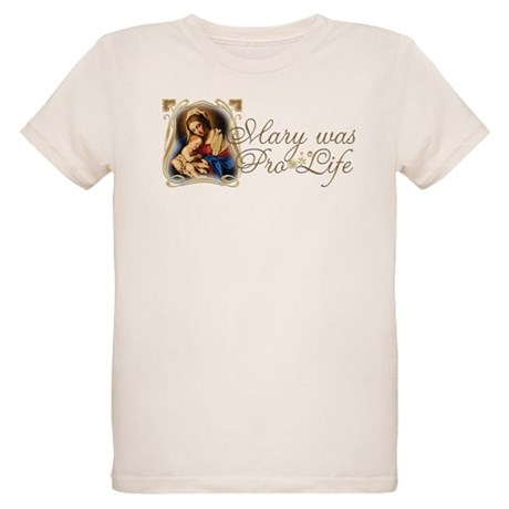 """Mary was Pro-Life"" Organic Kids T-Shirt"