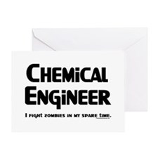 Chem Engineer Zombie Fighter Greeting Card