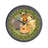 Jungle Safari Wall Clock - Evan