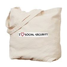 I Love Social Security Tote Bag