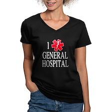 I Love General Hospital Women's V-Neck Dark T-Shir