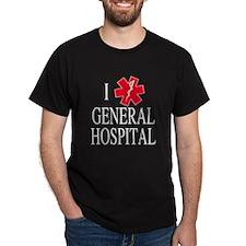 I Love General Hospital Dark T-Shirt