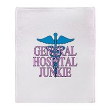 General Hospital Junkie Throw Blanket