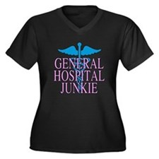 General Hospital Junkie Women's Plus Size V-Neck D