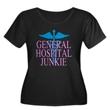 General Hospital Junkie Women's Plus Size Scoop Ne