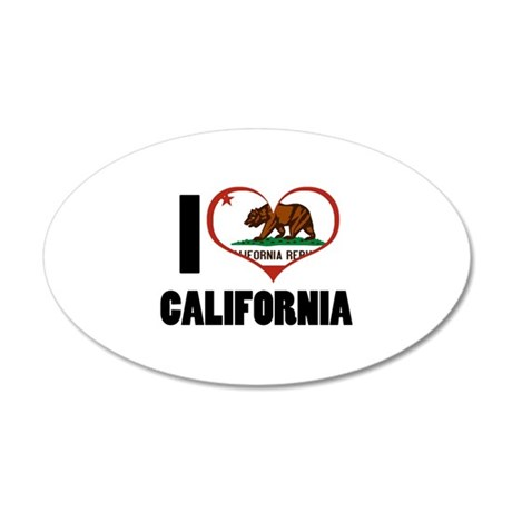 I Heart California 22x14 Oval Wall Peel