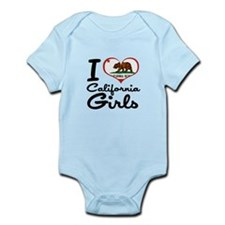 I Heart California Girls Infant Bodysuit