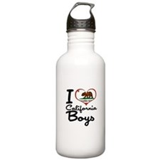 I Heart California Boys Water Bottle