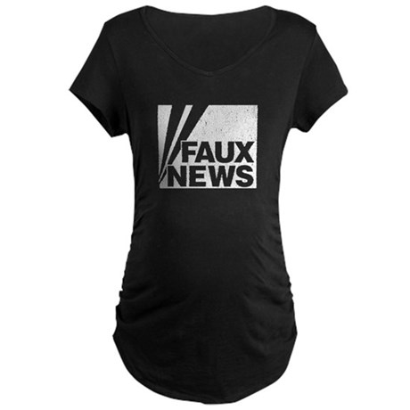 Faux News Maternity Dark T-Shirt