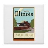 Travel Illinois Tile Coaster