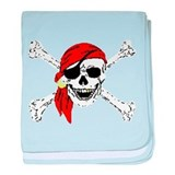 Pirate Skull baby blanket