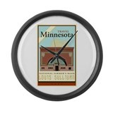 Travel Minnesota Large Wall Clock