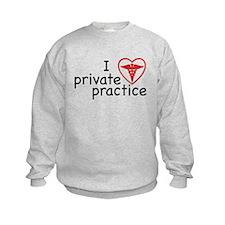 I Love Private Practice Kids Sweatshirt