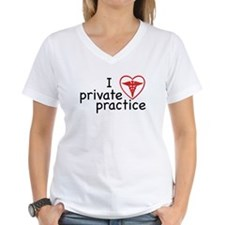 I Love Private Practice Women's V-Neck T-Shirt