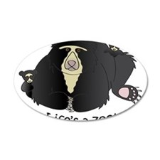 Spectacled Bear 22x14 Oval Wall Peel