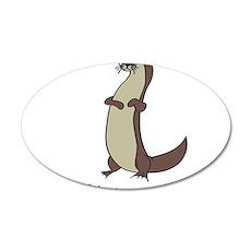 Otter 22x14 Oval Wall Peel