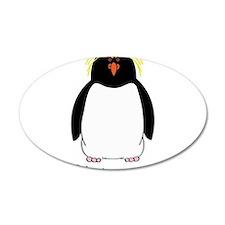 Rockhopper Penguin 38.5 x 24.5 Oval Wall Peel