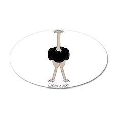 Ostrich 38.5 x 24.5 Oval Wall Peel