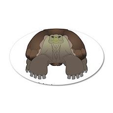 Galapagos Tortoise 38.5 x 24.5 Oval Wall Peel