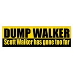 Dump Scott Walker Bumper Sticker