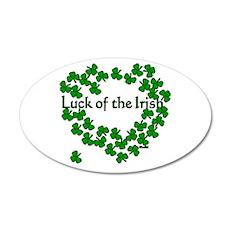 The Luck of the Irish 22x14 Oval Wall Peel