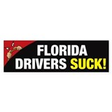 Florida Drivers Suck Bumper Sticker