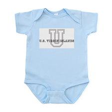 Letter U: U.S. Virgin Islands Infant Creeper