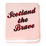 Scotland the Brave baby blanket