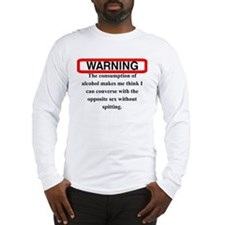 WARNING SPIT Long Sleeve T-Shirt