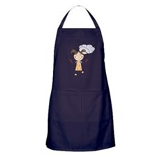 Girl Jumping Rope Apron (dark)